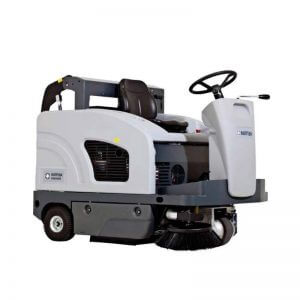 Nilfisk SW4000 Compact Ride on Sweeper with Dump